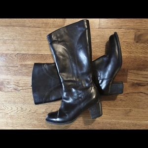 L.L. Bean Wide Width Tall Leather Boots - 'As Is'